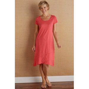 Soft Surroundings Pink Knit Dress H145